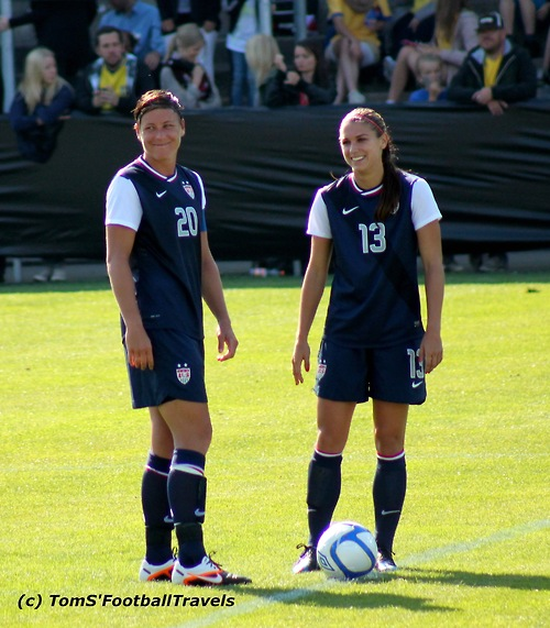 Tobin Heath And Alex Morgan Alex morgan was next to score